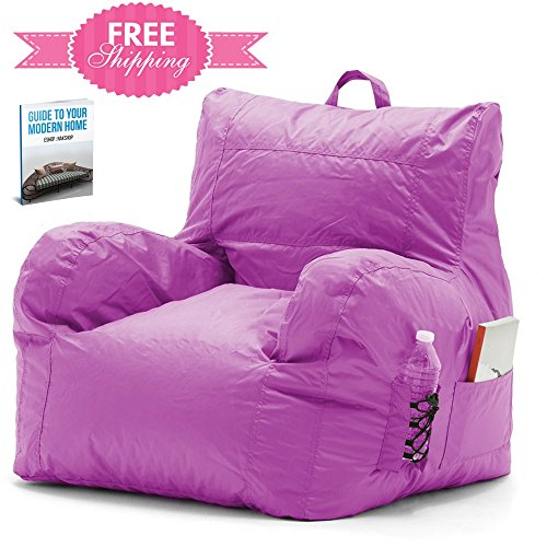 51UVRFr8RVL - Chill Bean Bag Chair Pink Portable Eco Friendly Office Wipeable Outdoor Sports Waterproof Camping Comfy Bedrooms Kids Room Gaming Lounge Cozy Chillax Sack Seating Comfortable And eBook By NAKSHOP