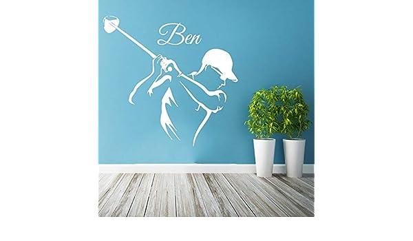 ganlanshu Etiqueta de la Pared Personalidad Golfista Nombre ...