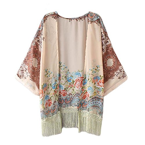 gillberry-women-floral-printed-chiffon-tassel-fringe-kimono-cardigan-blouse-l-multi