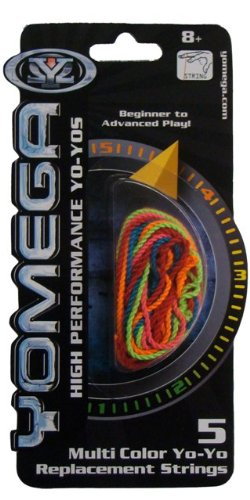 Yomega YoYo Multi-Color – 5 Pack Replacement String (colors may vary)