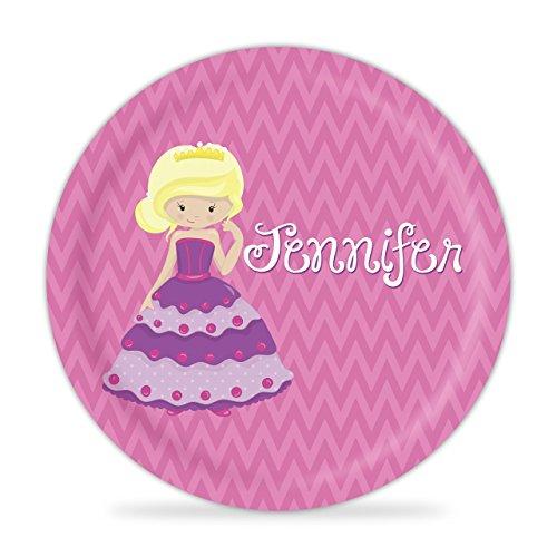 Princess Plate - Purple Princess Melamine Personalized - Dress Spice Posh