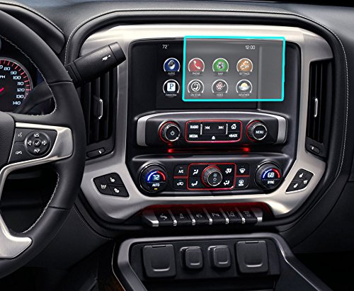 "Protec Chevrolet/Cadillac/GMC/Buick 8.0"" Anti-Glare Standard Screen Protector[Fits most Malibu-Impala-Volt-Camaro-Equinox-Tahoe-Colorado-Sierra/Silverado][Fits most 2012-2014,2015,2016,2017,2018] Tahoe Screen"