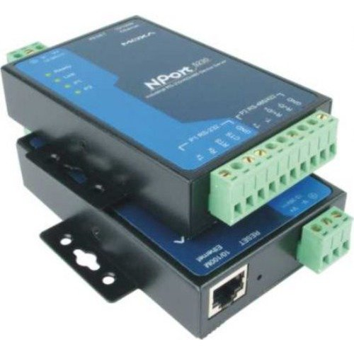 MOXA NPort 5230 2-Port Device Server, 10/100 Ethernet, RS-232 x 1, RS-422/485 x 1, Terminal Block by Moxa (Image #1)