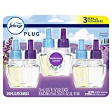Febreze Odor-Eliminating Plug in Air Freshener Scented Oil Refill, Mediterranean Lavender, 3 Count