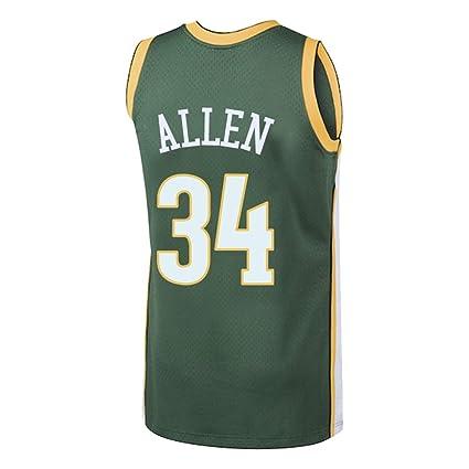 ZAIYI-Jersey Camiseta de Baloncesto Hombre -Ray Allen- # 34 ...