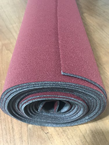 headliner doctor foam backed repair fabric WORKS WITH Chevy Silverado 1500-RED-72 x 60 - Chevy Headliner