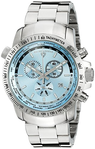 Swiss Legend Men's 10013-102 World Timer Chronograph Stainless Steel (World Timer Stainless Steel Chronograph)