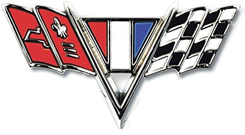 "Fender Emblem -""V-Flag"" - LH or RH (Sold Each) - 65-67 Chevy II Nova Chevelle Fullsize Chevy Car; 67 Camaro"