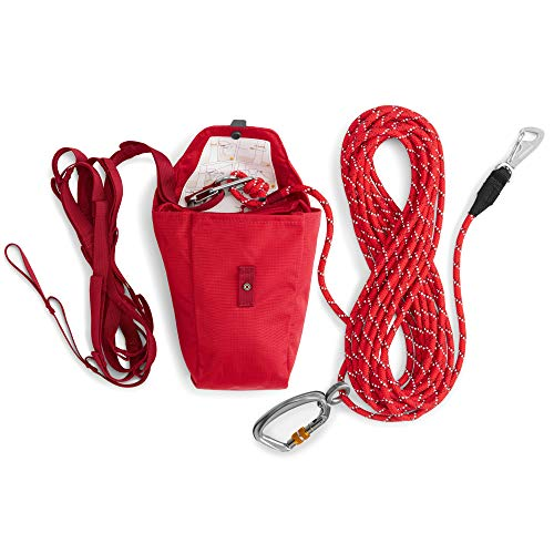 best aerial dog run for camping - RUFFWEAR, Knot-a-Hitch Dog Hitching System for Campsites, Red Currant