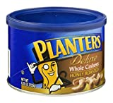 Planters Deluxe Honey Roasted Whole Cashews 8.25 OZ (Pack of 24)
