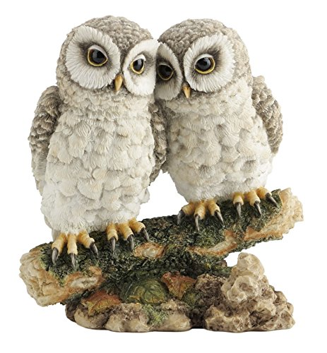 Owl Bird Figurine - Owls Perched on Branch Figurine Collectible Statue