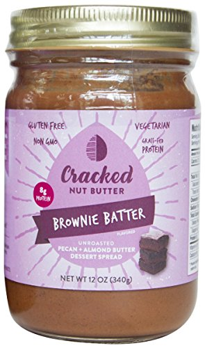 Brownie Dessert (Cracked Nut Butter Unroasted Pecan Plus Almond Butter Dessert Spread, Brownie Batter, 12 Ounce)