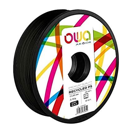 OWA Bobine de Filaments pour imprimante 3D - PS- Noir: Amazon.es ...
