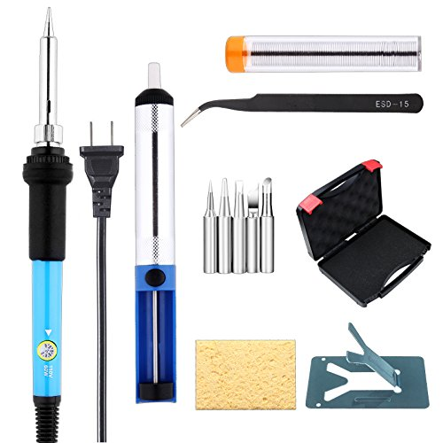 Amazon.com: NIUBIER 8-in-1 Portable Electric Soldering Iron Kit ...