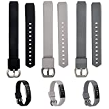 WISHTA Bands for Fitbit Alta Fitbit Alta HR - 3PCS Newest Colorful Replacement Wristband With Secure Clasps for Fitbit Alta Alta HR Only(No tracker - Replacement Bands Only) (3PCS-1 - L)
