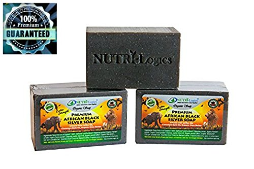 NUTRI-Logics' BEST- EXTRA STRENGTH- 6 oz BAR COLLOIDAL SILVER SOAP- USDA CERTIFIED ORGANIC- INFUSED with RICH COFFEE, SHEA BUTTER & CINNAMON BARK OILS - ANTI-FUNGAL / ANT-BACTERIAL PROPERTIES