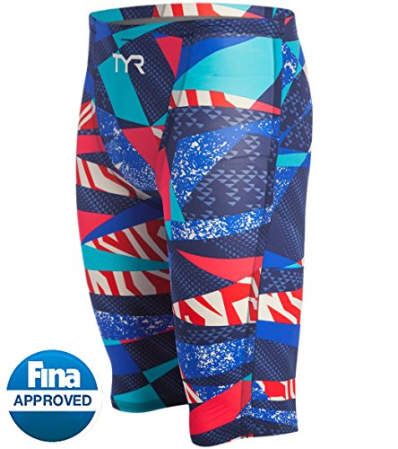TYR Avictor Prelude Male High Short Color: Red/White/Blue Size: 25 by TYR
