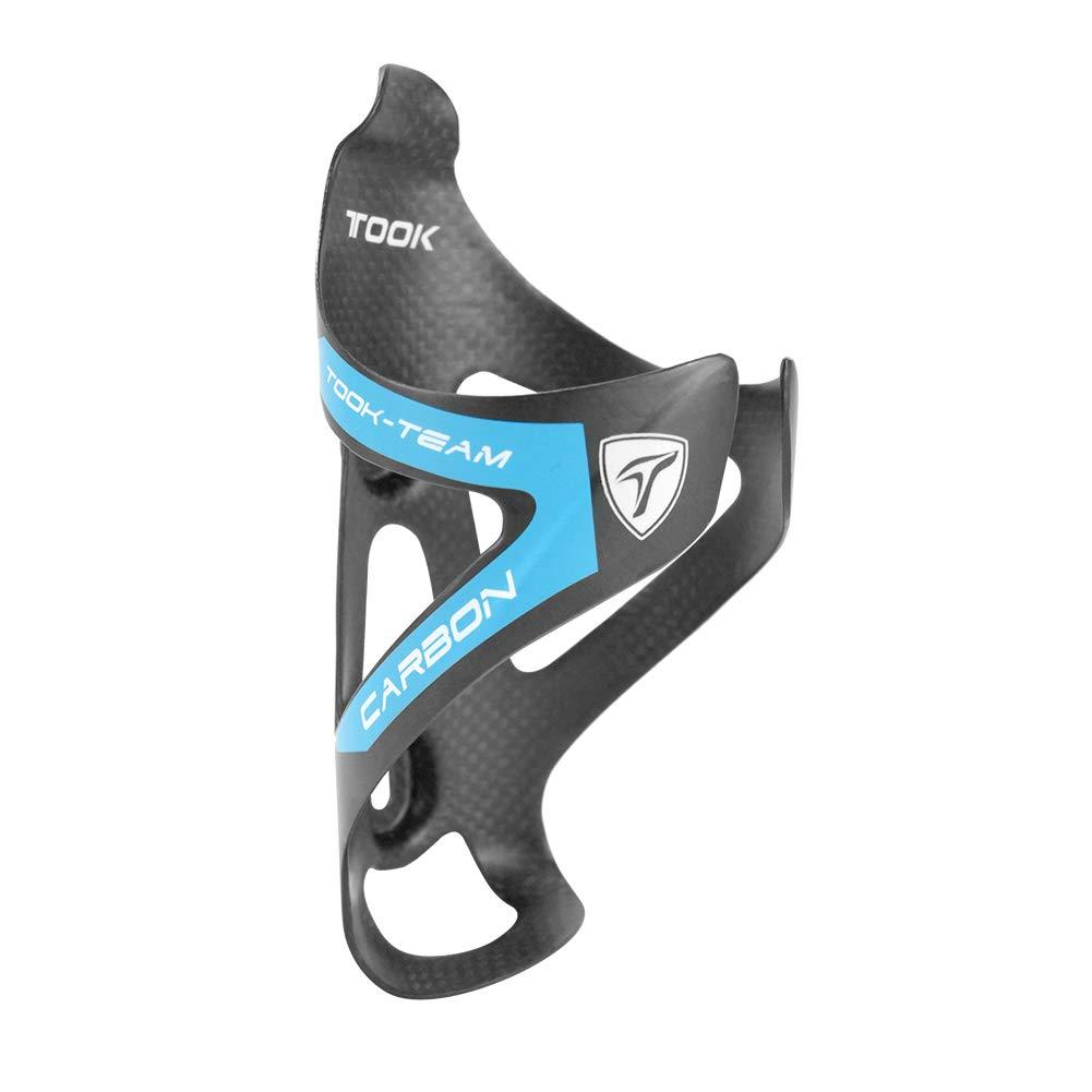 TOSEEK Carbon Fiber Water Bottle Cages Lightweight Bicycle Water Bottle Holder Bike Cages Brackets (Blue-Matt) by TOSEEK