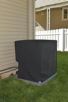 Comp Bind Technology Waterproof Cover for Air Conditioning System Unit Lennox Merit Model 14ACX-036 Outdoor Black Nylon Cover By Dimensions 28.5''W x 28.5''D x 37.5''H