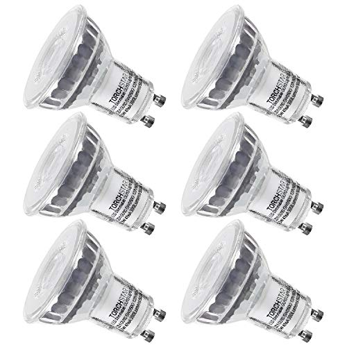 - TORCHSTAR Dimmable LED MR16 GU10 Spot Light Bulb, 5.3W (50W Equivalent), 5000K Daylight, 380 Lumens, UL and Energy Star Certified, 3 Years Warranty, Pack of 6