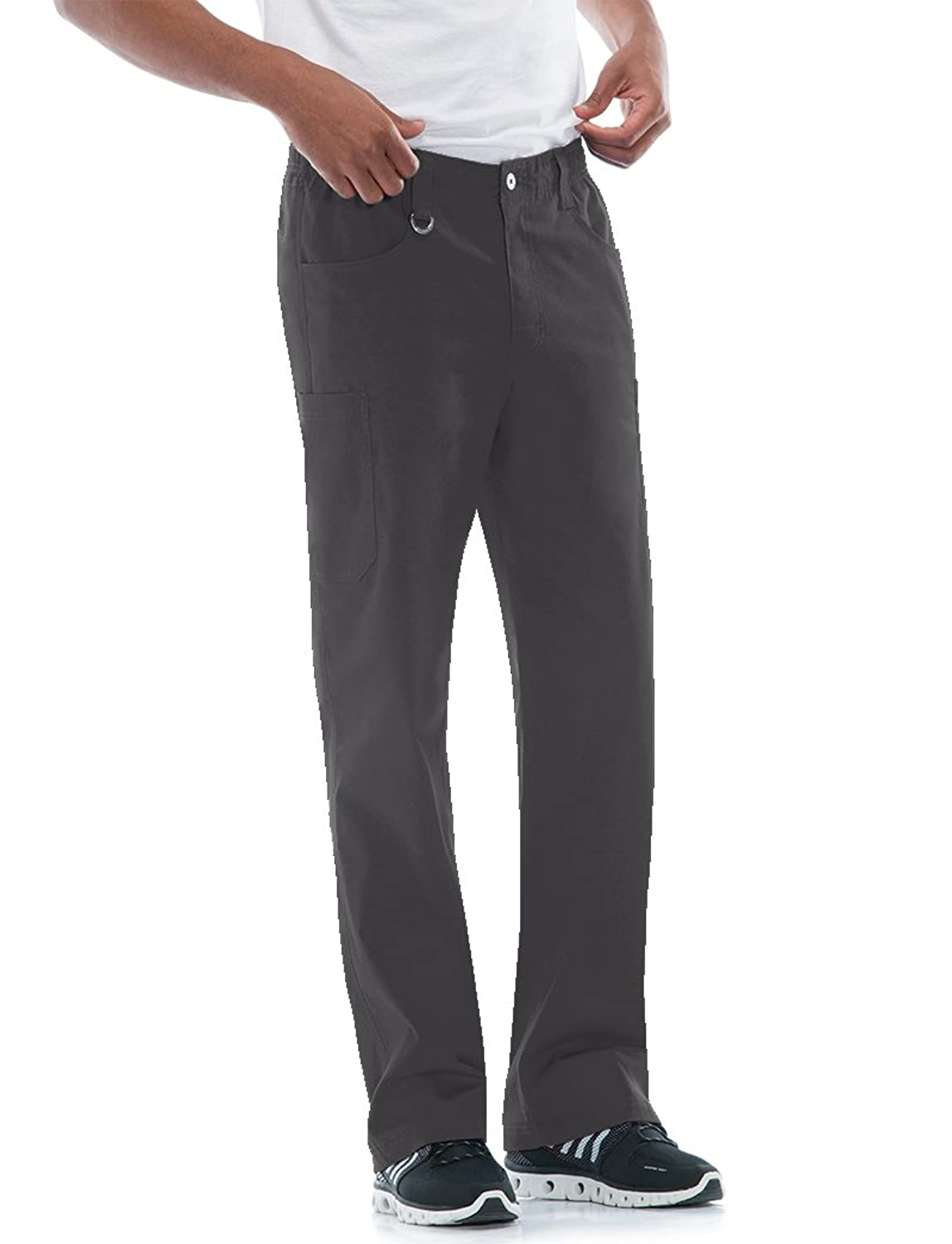 5a28676e4e2 Dickies EDS Signature STRETCH 81111A men\'s zip fly pull-on pant features  an all around elastic waistband with a button closure, adjustable interior  ...