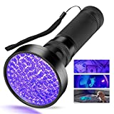 Pet Urine Detector/Black Light UV Flashlight, 100 LED Professional Grade 395NM Ultraviolet Light Detector for Dog/Cat Urine, Dry Stains,Bed Bug,Stain Detection Best for Commercial/Domestic/Hotel Use