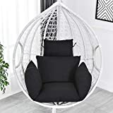 urnanal hanging egg hammock chair cushion, swing seat cushion thick nest hanging chair back with
