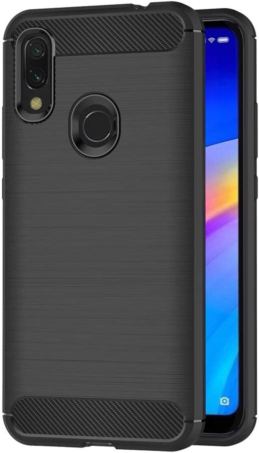 AICEK Funda Compatible Xiaomi Redmi 7, Negro Silicona Fundas para Xiaomi Redmi 7 Carcasa Redmi 7 Fibra de Carbono Funda Case (6,26 Pulgadas)