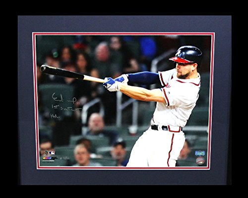 Ender Inciarte Autographed Signed Atlanta Braves Framed 16X20 Mlb Photo With  1St Suntrust Home Run  Inscription