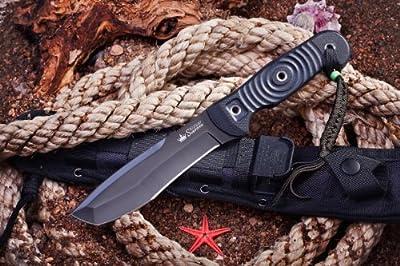 Kizlyar KK0222 Vendetta D2 Russian Made Titanium Tactical Knife, Black from CAS HANWEI :: Combat Knife :: Tactical Knife :: Hunting Knife :: Fixed Blade Knife :: Folding Blade Knife