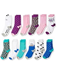 Spotted Zebra Kids' 12-Pack Crew Socks