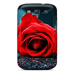 GHZlbRb7353ArSDG Tpu Case Skin Protector For Galaxy S3 Red Rose With Nice Appearance