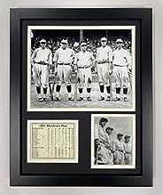 Legends Never Die 1927 New York Yankees Murderer's Row Framed Photo Collage, 11x14-