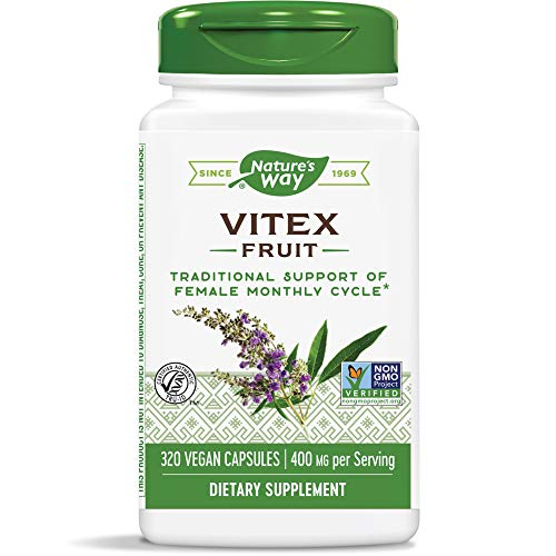 Nature's Way Vitex; 400 mg; Non-GMO Project Verified; TRU-ID Certified; 320 Vegetarian Capsules