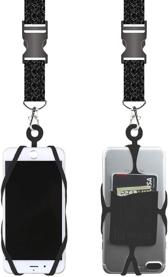 cordon universal celular p/colgar en cuello c/bolsillo tarj.