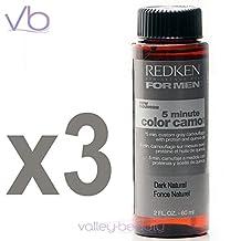 Redken For Men 5 Minute Color Camo - Dark Natural 3 bottles 2oz each by Redken for Men