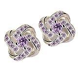 Clearance!!!Twinsmall Women Lady Elegant Diamond Ear Stud Flower Earrings Women Jewelry Earrings Stud