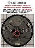DISHWASHER DIVERTER MOTOR SHAFT SEAL/GASKET/GROMMET UNDER SUMP WPW10195677 W10195677