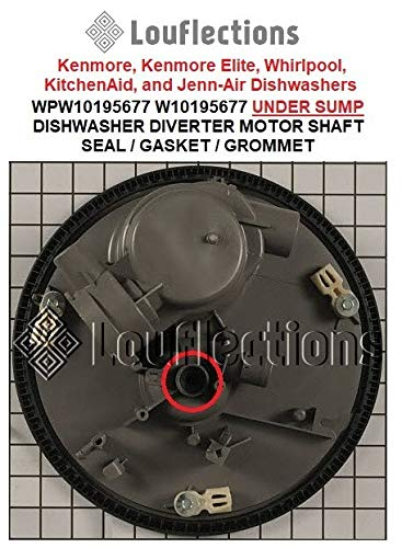 (DISHWASHER DIVERTER MOTOR SHAFT SEAL/GASKET/GROMMET UNDER SUMP WPW10195677)