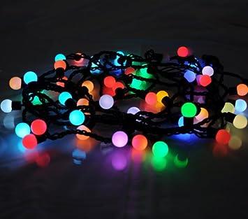 Guirnalda de luces LED Multicolor con filamento-bolas para interiores, 50 bombillas en 6,15 Meter longitud, medio: Amazon.es: Electrónica