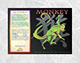 Asian Oriental Chinese Zodiac Poster Year of the Monkey: Birth Years 1920 1932 1944 1956 1968 1980 1992 2004 2016