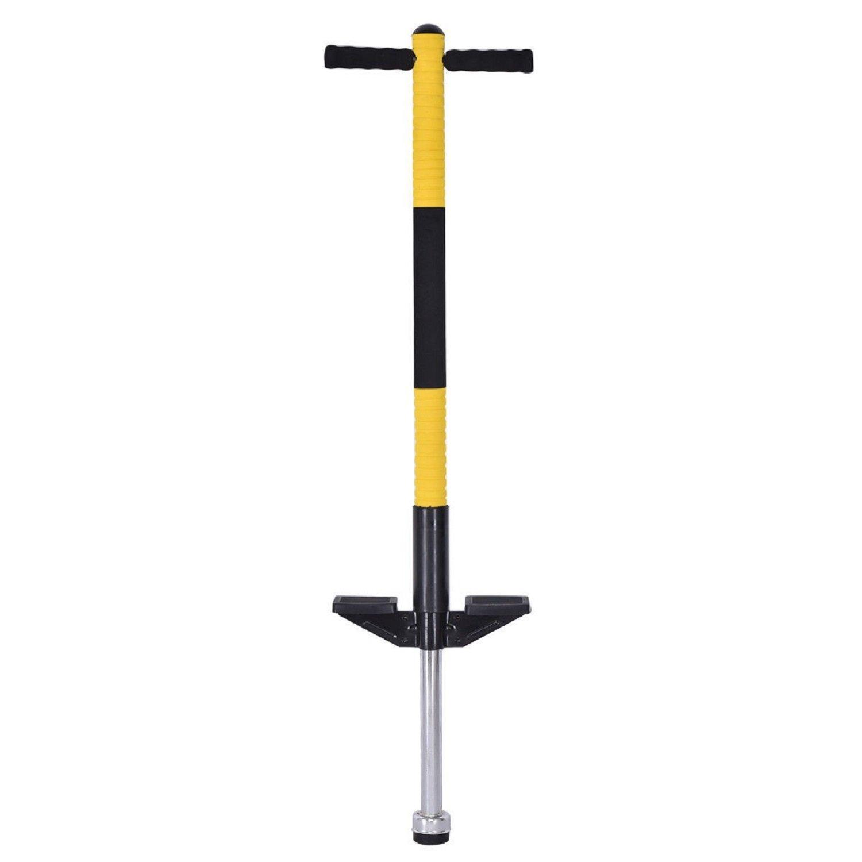 COSTWAY Children Balance Training Single Jump Pogo Stick - Yellow