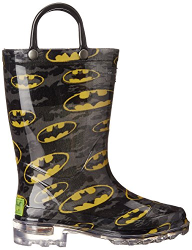 Western Chief Kids Waterproof D.C. Comics Character Rain Boots with Easy on Handles, Light-up Batman, 12 M US Little Kid by Western Chief (Image #7)