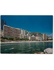 Gear New Cutting Board, Scenic View Of Beach Of City Of Monte Carlo Monaco, 11x8