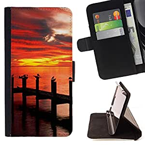 Super Marley Shop - Leather Foilo Wallet Cover Case with Magnetic Closure FOR LG OPTIMUS L90- Sunsine Fly Man sea
