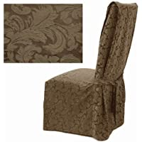 Damask Chocolate Dining Chair Covers Set of Four 578