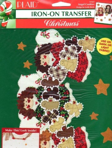 Plaid Iron On Transfer Christmas Angel Cookies Designed By Angel Cookie
