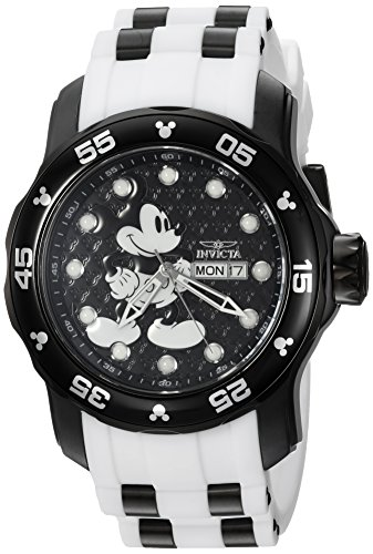 Invicta Men's Disney Limited Edition Stainless Steel Quartz Watch with Silicone Strap, Two Tone, 26 (Model: 23765)