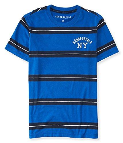 Aeropostale Mens Striped Embellished T Shirt