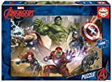 Marvel Heroes 1000 Piece Professional Puzzle All Heroes Ages 12+ - Adult Featuring Hulk Iron Man Captain America Black Panther Thor